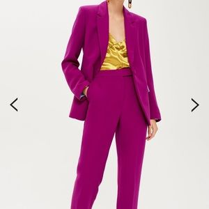 NWT Topshop fuschia suit trousers